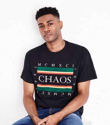 Black Chaos 1991 Print T-Shirt New Look