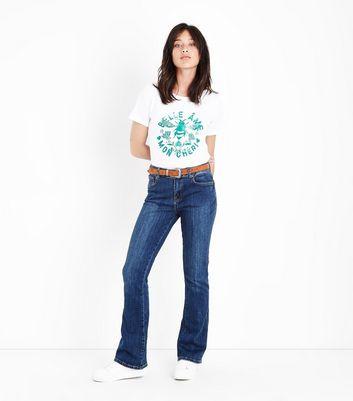 White Bee Print OversizedT-Shirt New Look