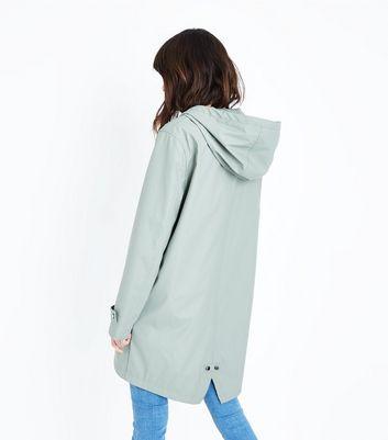 Olive Longline Anorak New Look