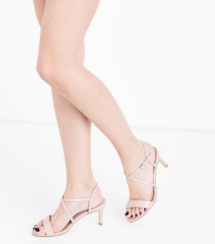 compare price attractive colour great deals 2017 Nude Patent Strappy Kitten Heel Sandals Add to Saved Items Remove from  Saved Items