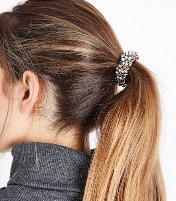 Pewter Beaded Hairband New Look