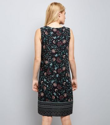 Apricot Navy Floral Print Midi Tunic New Look