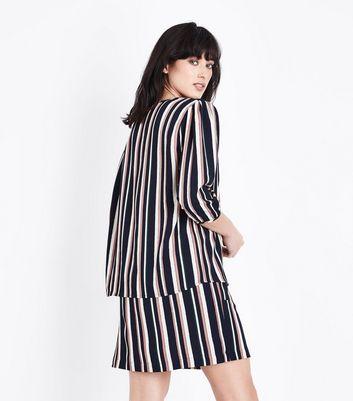 JDY Pink Stripe 3/4 Sleeve Blouse New Look