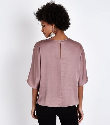 JDY Mid Pink Flared Sleeve Top New Look