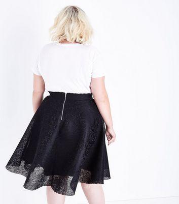 Curves Black Lace Midi Skirt New Look
