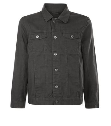 Grey Collared Denim Jacket New Look