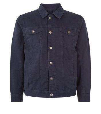 Navy Collared Denim Jacket New Look