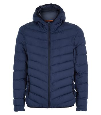 Navy Puffer Jacket New Look