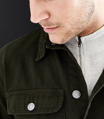 Khaki Worker Jacket New Look