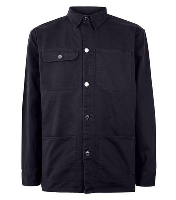 Navy Worker Jacket New Look