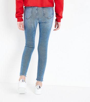 Teens Blue High Waist Super Skinny Jeans New Look