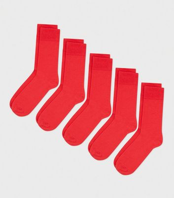 5 Pack Red Socks