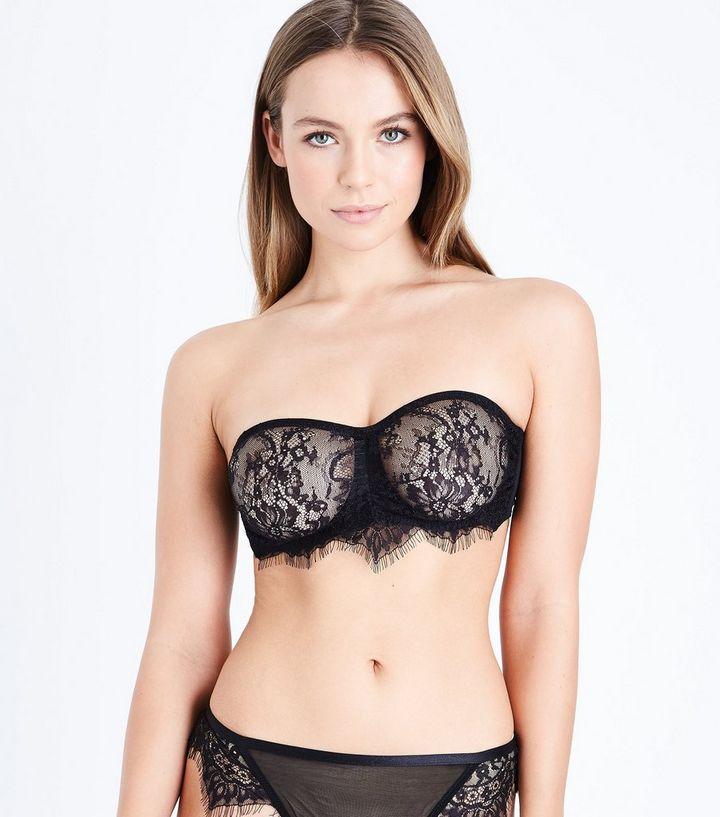 14b0e37e7b0 Black Lace Bandeau Bra