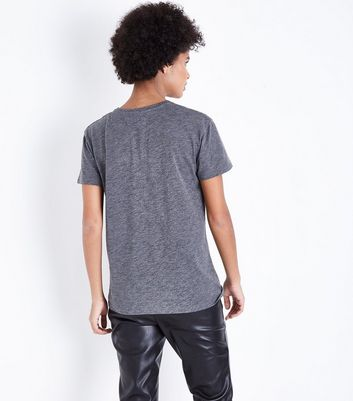 Grey Marl Adore 2 Way Sequin T-Shirt New Look