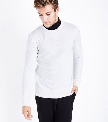 Cream Crew Neck Sweater New Look