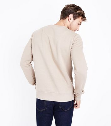 Camel Crew Neck Sweater New Look