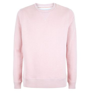 Pink Crew Neck Sweater New Look