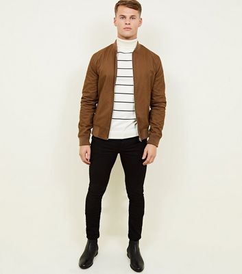 shop for Men's Brown Bomber Jacket New Look at Shopo