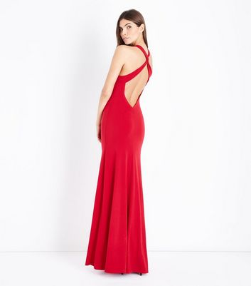 Red Cross Back Maxi Dress New Look