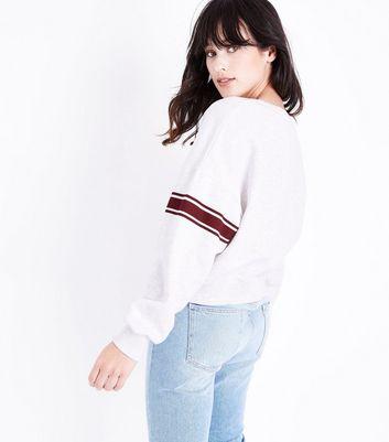 Cream Boston Applique Sweatshirt New Look