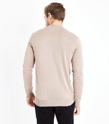 Camel Cotton Funnel Neck Long Sleeve Top New Look