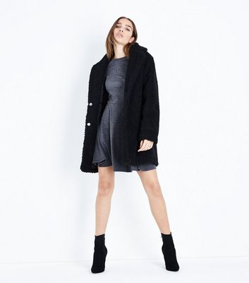 Grey Scoop Back Skater Dress New Look