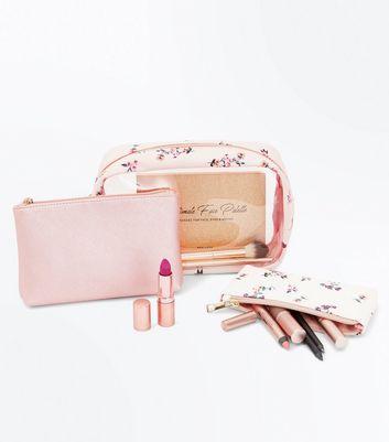 3 Pack Multi Coloured Make Up Bag Set New Look