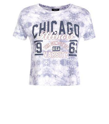 Teens Light Grey Tie Dye Printed T-Shirt New Look