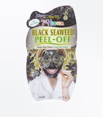 Black Seaweed Peel Off Face Mask New Look