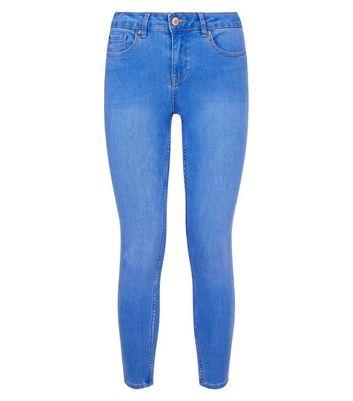 Petite Bright Blue Super Soft Super Skinny Jeans New Look