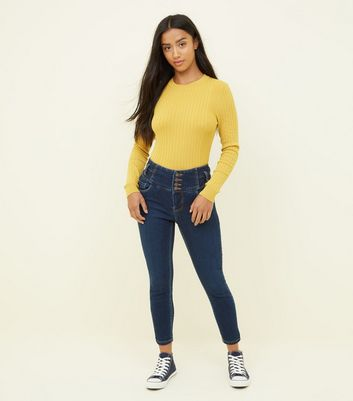 Petite Blue 26in High Waist Skinny Jeans