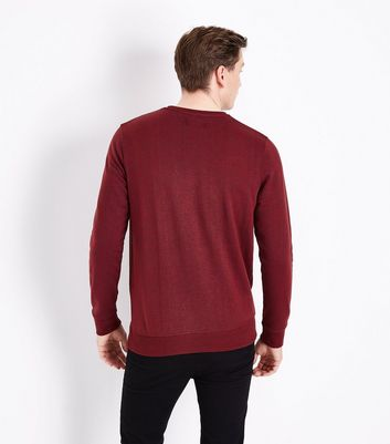 Red Textured Sweatshirt New Look