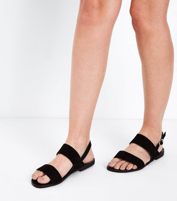 6b1beca9911a ... Shoes · Wide Fit Black Suede Double Strap Sandals. ×. ×. ×. Shop the  look