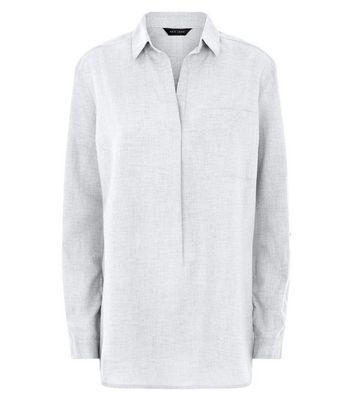 Grey Drop Arm Long Sleeve Shirt New Look