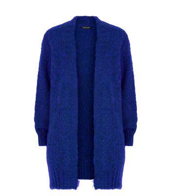 Bright Blue Balloon Sleeve Longline Cardigan New Look