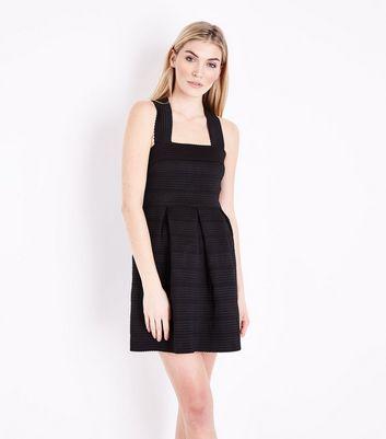 Black Bandage Skater Dress New Look