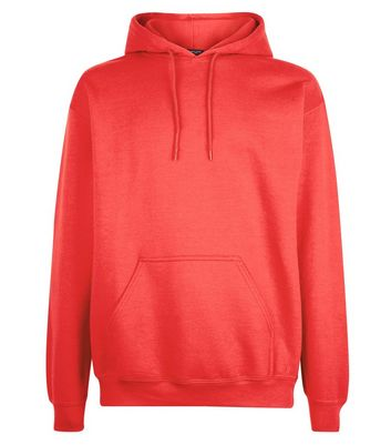 Red Pocket Front Hoodie New Look