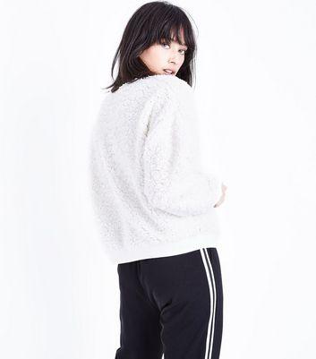 Cream Teddy Sweatshirt New Look