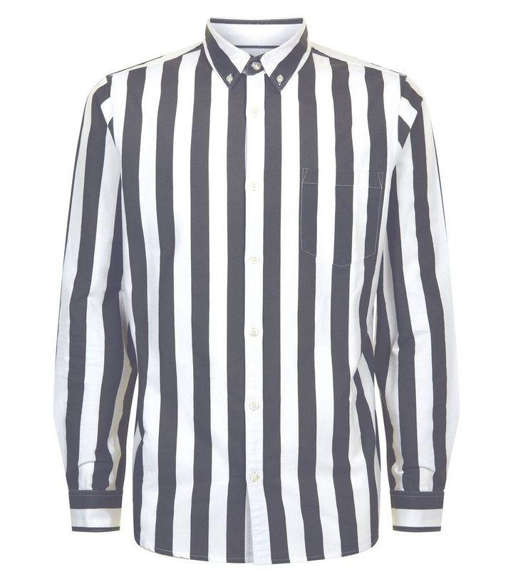 newest c2f7d 770ae Schwarzes Langarmhemd mit breiten Streifen Für später speichern Von  gespeicherten Artikeln entfernen