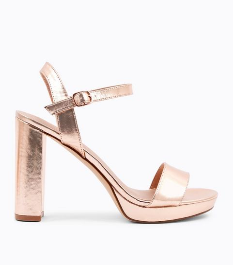 fd1c2602d5c ... Rose Gold Metallic Block Heel Platform Sandals ...