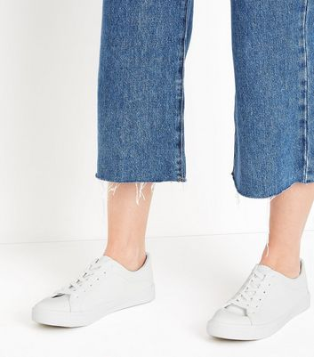 White Lace Up Trainers New Look