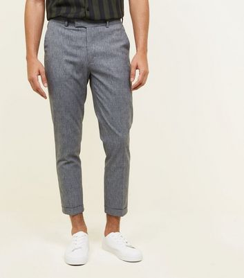 Pantalon skinny court gris chiné