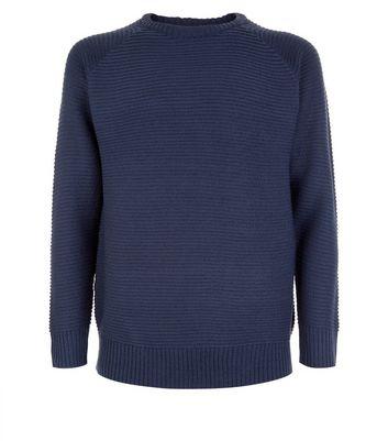 Blue Raglan Sleeve Jumper New Look
