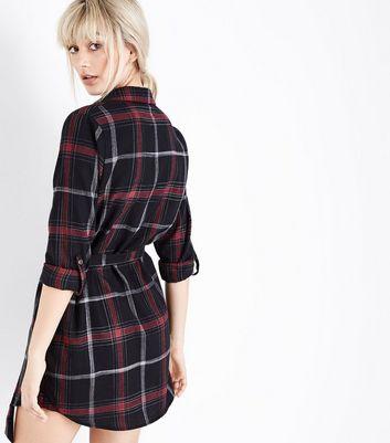 Parisian Black Check Belted Shirt Dress New Look