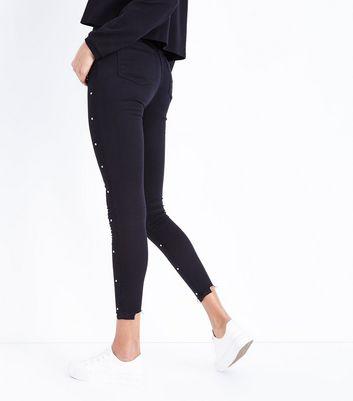 Parisian Black Gem Embellished Skinny Jeans New Look