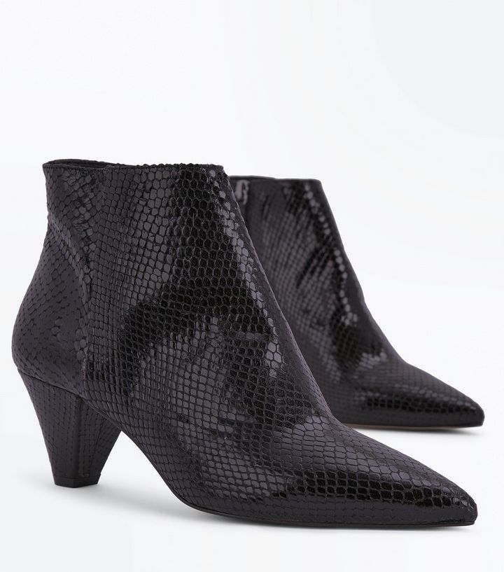60f0677dff88 ... Leather Snake Texture Heeled Boots. ×. ×. ×. Shop the look