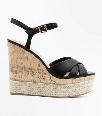 En Croisées Brides Ornement Noires Semelles Métal Chaussures Et À WqZnTxB