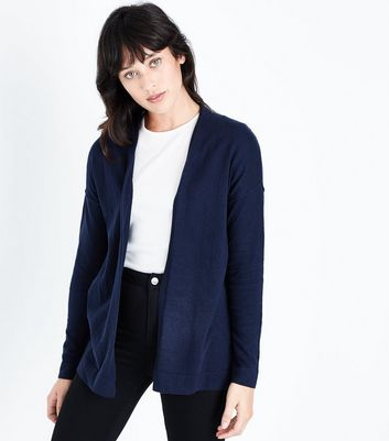 Apricot Navy Stitch Trim Cardigan New Look