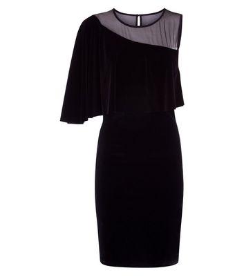 Blue Vanilla Black 1 Shoulder Frill Dress New Look