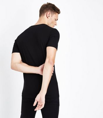Black Muscle Fit T-Shirt New Look